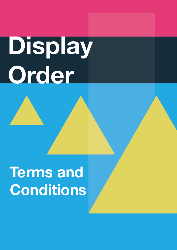 Display Order Terms and Conditions
